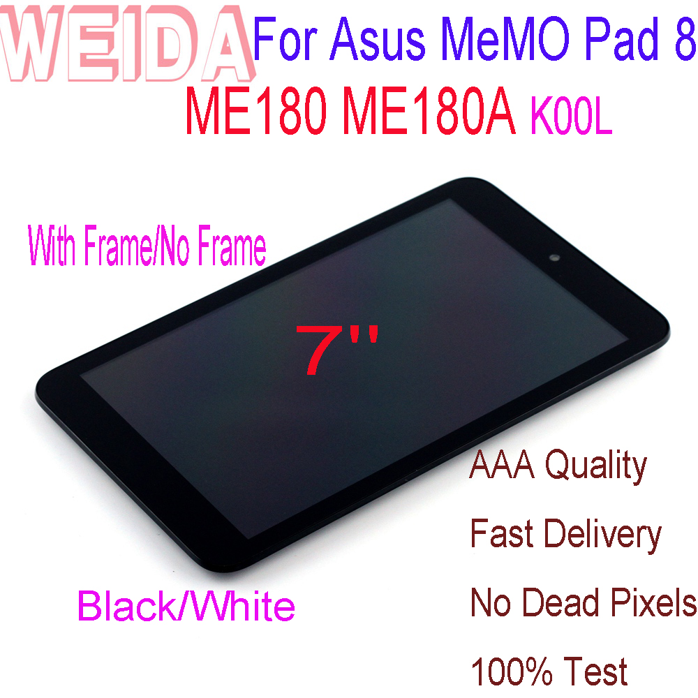 New 8'' For Asus Memo Pad 8 ME180 ME180A K00L LCD Touch Screen Digitizer Assembly With Frame +Tools Replacement Parts Tablet PC