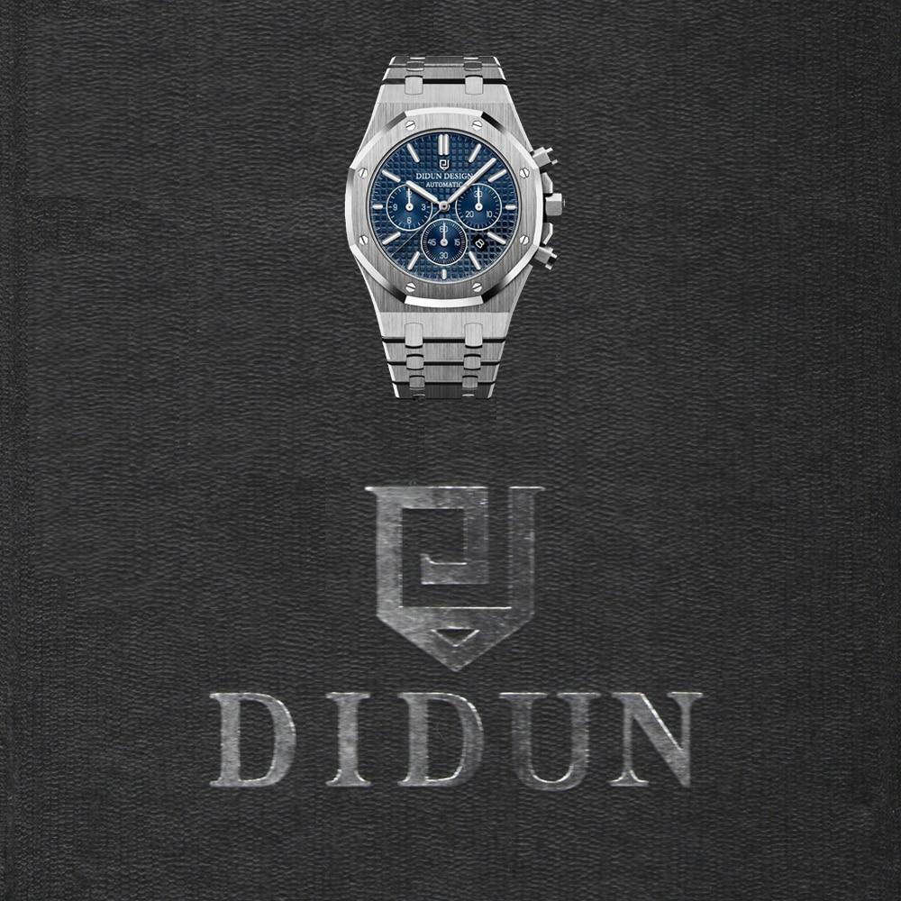 DIDUN men luxury watches men steel quartz watch men business watch sports watch 30M waterproof luxury men s women quartz watch business watch men women watch