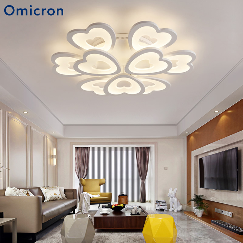 цена на Omicron LED Chandeliers Flowers Originality White Black Coffee Chandeliers Light Home Decor For Living Room Study Room Lighting