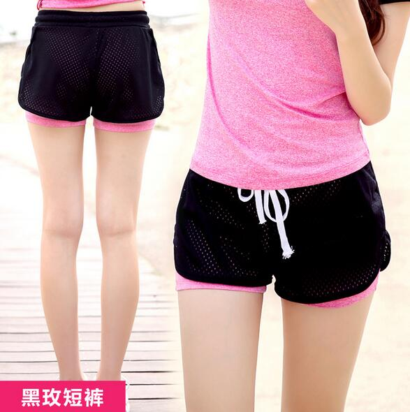 2 In 1 Fitness Yoga Shorts For Women Comfortable Mesh