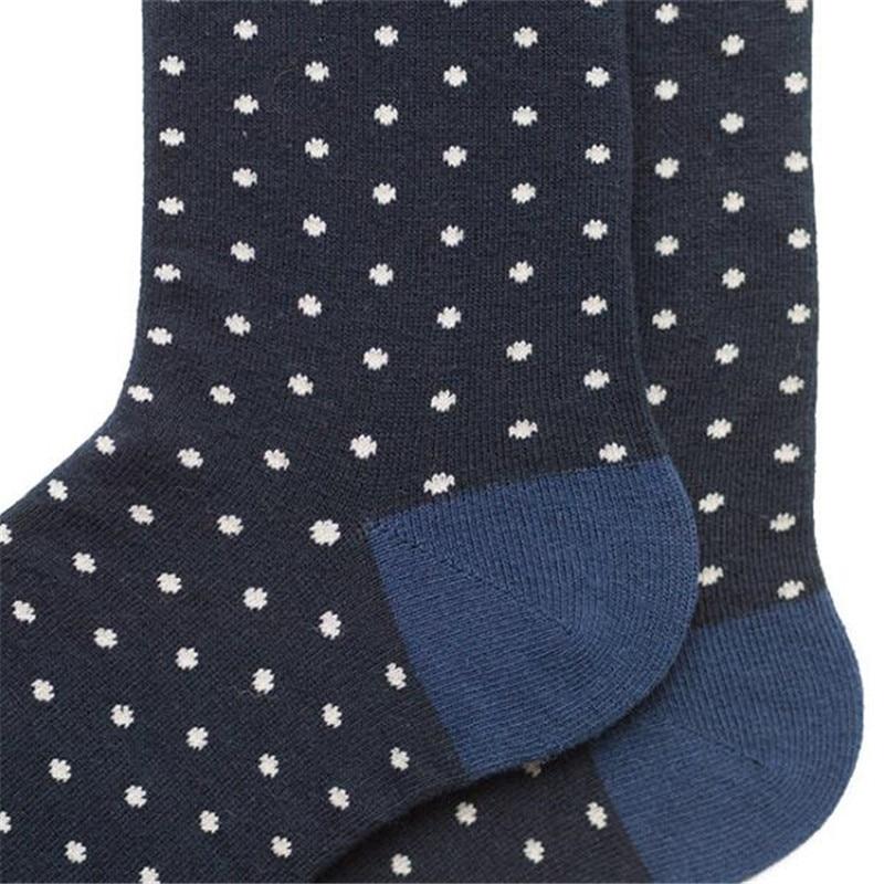Men's Socks The Best Fouretaw 1 Pair Street Fashion Japanese Style Small Dot Pattern Cotton Winter Autumn Personality Love Unisex Mens Crew Socks
