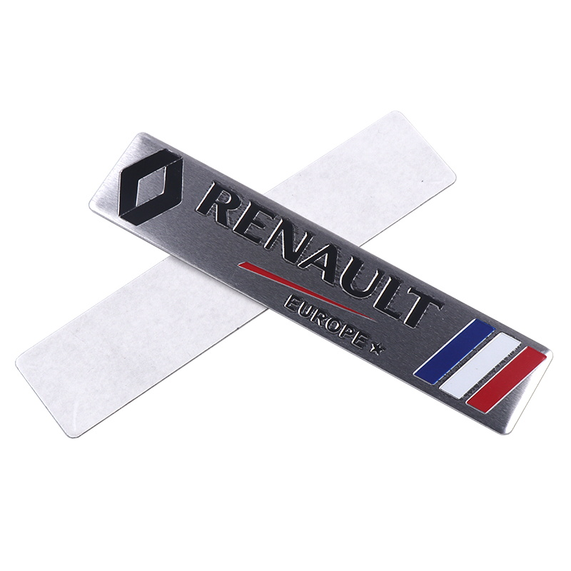 Image 3 - Car Styling 3D Aluminium Stickers Emblem Badge Decal For Renault Megane 2 3 Duster Logan Clio Laguna 2 Captur Body Decoration-in Car Stickers from Automobiles & Motorcycles