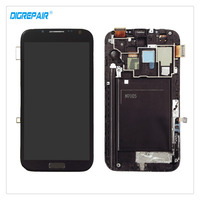 New Gray For Samsung Galaxy Note II 2 N7105 I317 LCD Display Digitizer Touch Screen Assembly