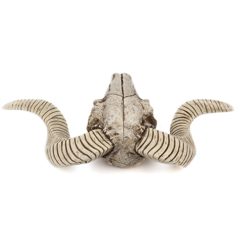 Retro Resin Craftwork Ram Sheep Skull Big Horns Home Wall Mounted Decoration