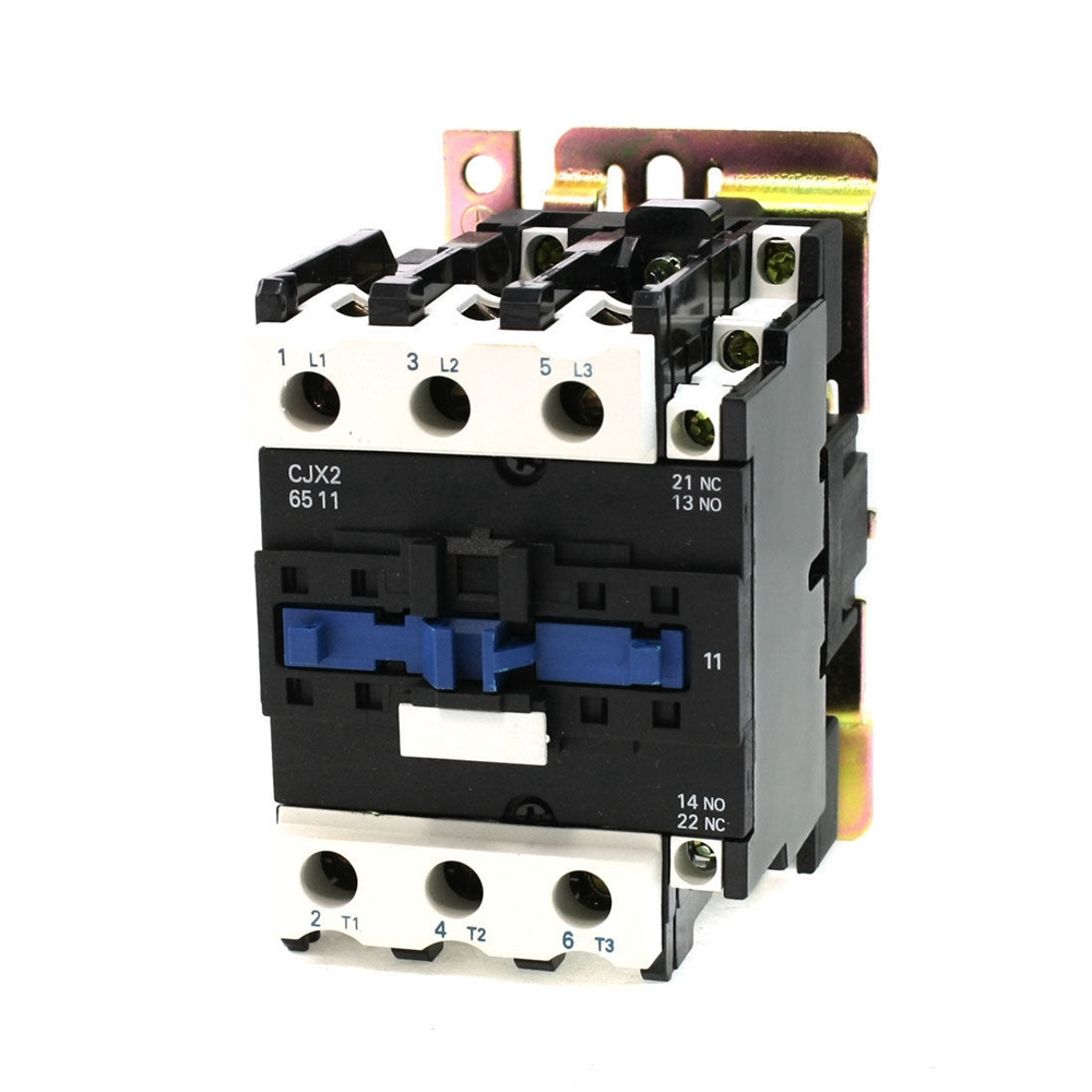 AC3 Rated Current 65A 3Poles+1NC+1NO 24V Coil Ith 80A AC Contactor Motor Starter Relay DIN Rail Mount free shipping high quality motor starter relay cjx2 6511 contactor ac 220v 380v 65a voltage optional lc1 d