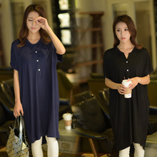 Women Nightgowns Summer Sleepwear Casual Night Dresses Plus size Short Sleeve dresses women Loose Nightdress Home Clothes