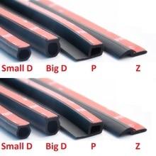 2 м D Z P B Тип клейкую ленту 3м резиновый уплотнитель автомобиля звук изоляционный уплотнитель боковой обрез Шум изоляционная лента для автомобильных дверей