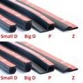 2 метра D Z P B Тип 3M резиновое уплотнение  звукоизоляционный уплотнитель  кромка  шумоизоляция  уплотнительная лента для автомобильных дверей