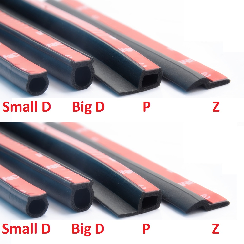 6M B Type Car Door Edge Dustproof Soundproof Rubber Seal Sealing Strips Moulding