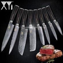 Новый бренд VG10 нож из дамасской стали 8 шт набор Цвет деревянной ручкой японский Сталь Кухня Ножи Лидер продаж профессиональные ножи комплект