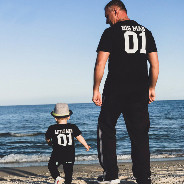 041dfcef88 Father Son Shirt Father Day Matching Clothes Family Clothing Kids Summer  2018 Short Sleeves Letter T-shirt Family Look Outfits