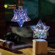 Светодиодная лампа Star RGB, декоративный светодиодный светильник, лампочка E27, 110 В, 220 В, ампула, светодиодная лампа для подарка, дома/гостиной/спальни, декор 3 Вт, лампады, Led