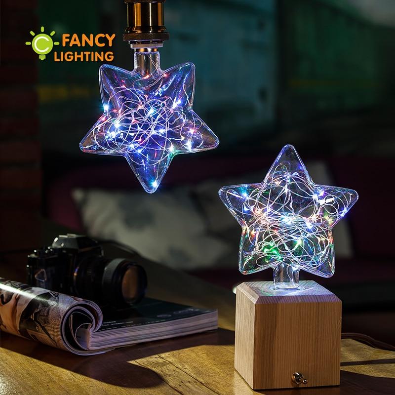 Led lamp star RGB decorative led light bulb 110V 220V led ampul for home/living room/bedroom/celebration decor 3W lampadas led