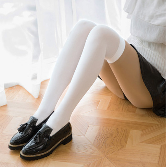 Fashion Women Over Knees Long Stockings Non-slip Solid Color Thigh High Boot Stockings School Students Girl Stockings LB