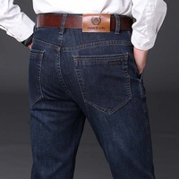 Brand Fashion Smart Casual Jeans Winter Men's Jeans Men Straight Denim Trousers Big Size 40 44 Man Male Fashion Denim Bottoms
