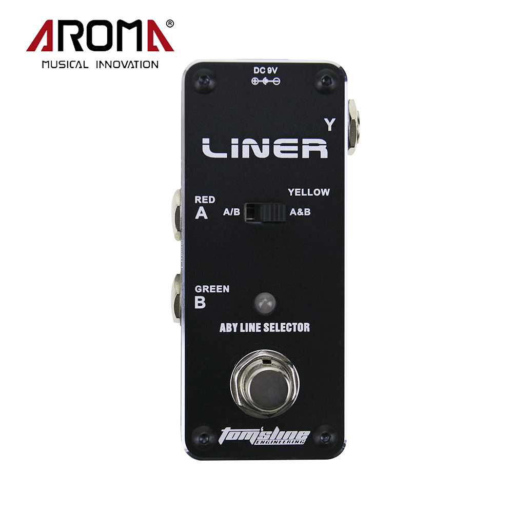 AROMA ALR-3 Guitarra Effect Pedal Liner Aby Line Selector Mini Electric Guitar Effect Pedal With Ture Bypass aroma adr 3 dumbler amp simulator guitar effect pedal mini single pedals with true bypass aluminium alloy guitar accessories