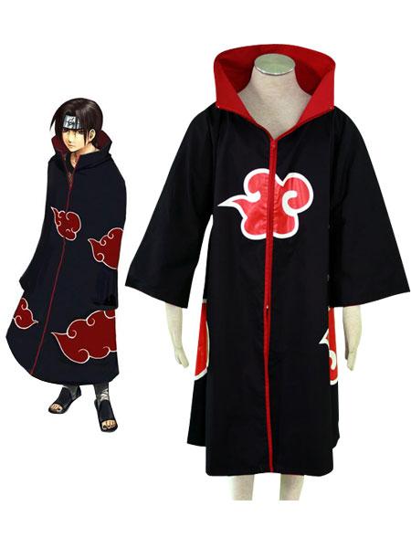 Free shipping Akatsuki Fashion font b Naruto b font Halloween font b cosplay b font costume