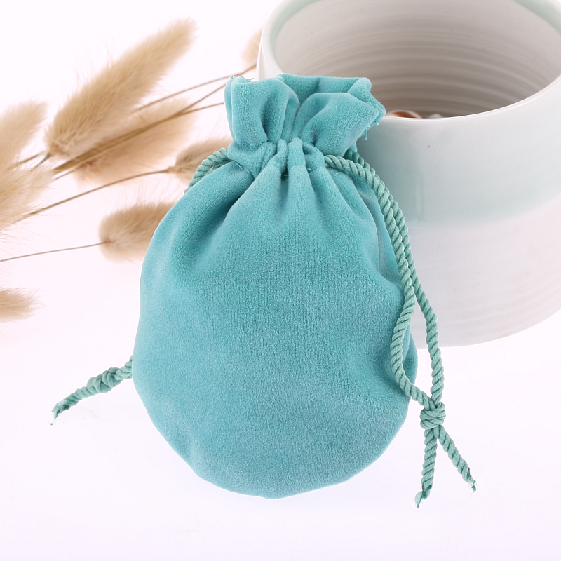 6.5*8cm 30 Pcs/lot Jewelry Pouch Gift Drawstring Bag Velvet Mini Package Small Topper Pocket Free Shipping