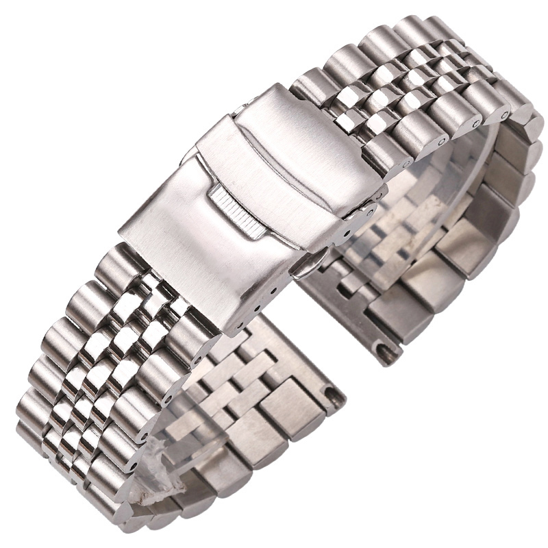 Stainless Steel Watch Bracelet Strap 20mm 22mm 24mm Women Men Silver Solid Metal Watch Band Strap Accessories цены
