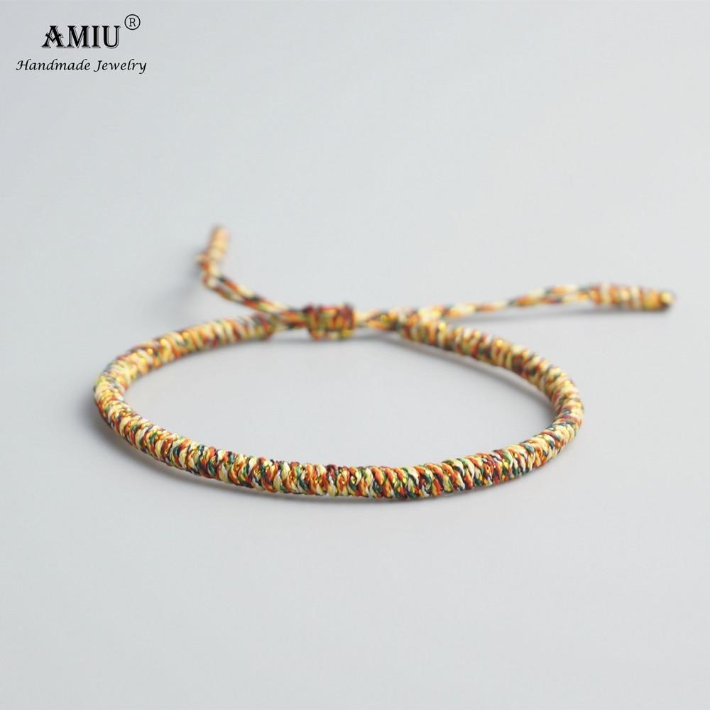 AMIU Tibetan Buddhist Lucky Charm Tibetan Bracelets & Bangles For Women Men Handmade Knots Rope Budda Bracelet as Christmas Gift