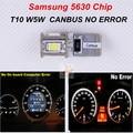 2x Para PEUGEOT 306 GTI SXI 307 407 607 Canbus livre de erros samsung 5630 chip t10 w5w carro levou luz lateral lâmpadas
