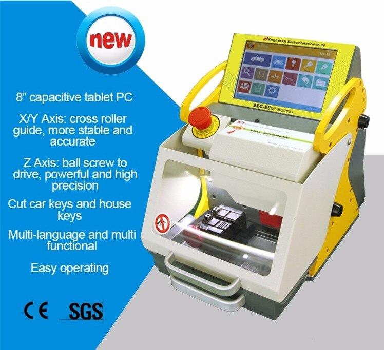 Best сек E9 Smart дублировать полный автоматический ключ Резка машины Планшеты PC sec-e9 с разных языков версия слесарь инструмент