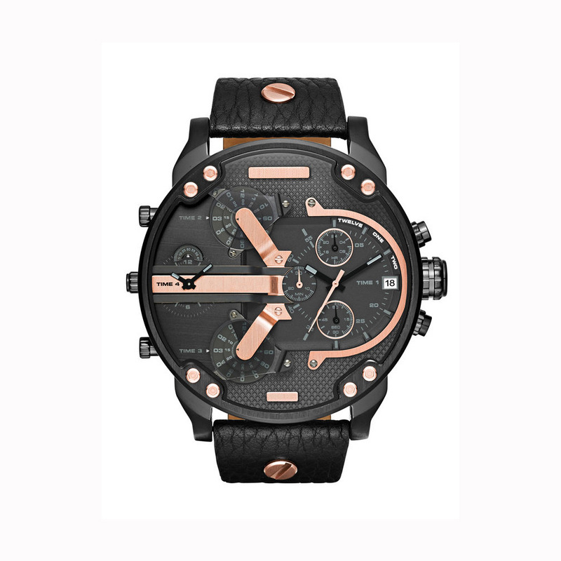 Cool Mens Watches DZ Style Man Watch Luxury Brand Famous Large Dial Quartz-watch Male Clock Saat Relogio Masculino Drop Shipping(China)