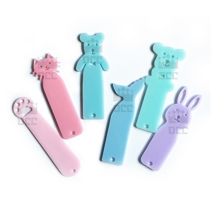 1pc Rabbit Cat Bookmarks shaped Silicone Mold for UV resin Epoxy Resin for handmade Jewelry Bear