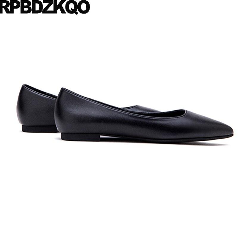 Noir or Bout Satin Pointu Belle Sur 34 Mode Appartements Dames bleu Dernières Chinois Chaussures Glissent Or Européenne Confortable 2017 Taille Chine 4Uq7R