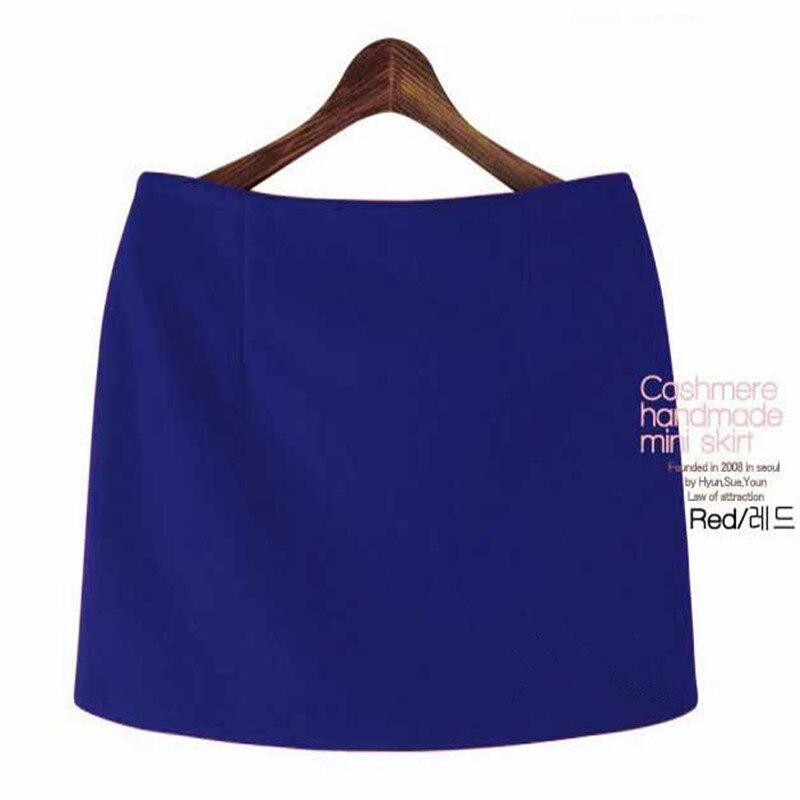 Moda Payız Qış Mini Etekləri 2016 Qadın Qatı İncə A-Xətti - Qadın geyimi - Fotoqrafiya 3