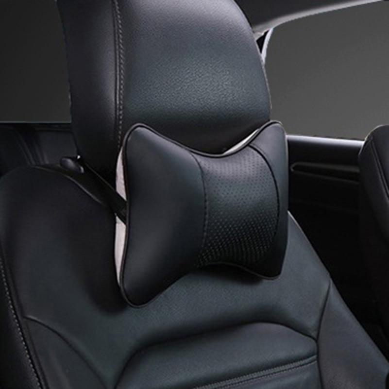 Car Headrest Auto safety Neck Pillow For Honda Civic Accord Fit VW Polo Passat B6 B5 Beetle Kia Rio Ceed Sportage Renault Captur neo chrome rear lower control arm lca for honda civic 2001 2005 e2c