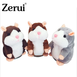 Dropshipping Talking Hamster Falante Mouse Pet Plush Toy Cute Talking Sound Record Educational Stuffed Doll Children Gifts 15cm(China)