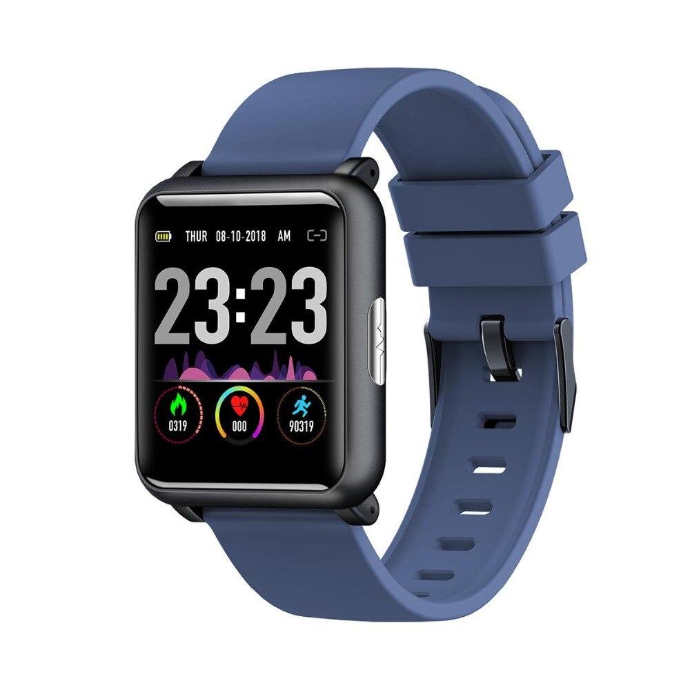 Bakeey H9 1.3 pouces ECG PPG moniteur HR tension artérielle Smartwatch IP67 étanche Sport Modes chargeur Dock montre intelligente hommes femmes