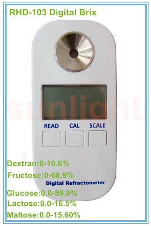 RHD 103 Digital Dextran Fructose Glucose Lactose Maltose 5 in 1 Brix Refractometer
