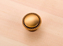 European Copper Knobs Carving Drawers Zinc Alloy Pulls Single Hole D:30mm Cabinets 10pcs