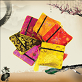 "10 Pcs 4 1/2"" Square Chinese Silk Jewelry Bag Organza Pouch Zipper Wedding Party Favor Package Gift  Bag"