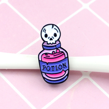 Skull Candle and Death Potion Pins