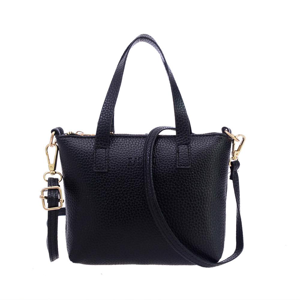 Women's Fashion Casual Leather Shoulder Bag Strap Zipper Handbags Large Bags For Women 2019 Elegant Female Big Tote #F