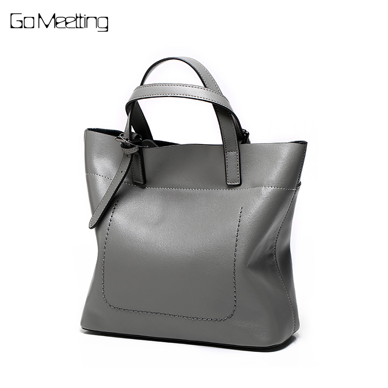 Go Meetting Genuine Leather Bag Female Handbag Women Bag Famous Brand Shoulder Crossbody Bags Women Messenger Bag Casual Tote whx new style casual fashion women tote bag crossbody bag female shoulder messenger bag leather cartoon cat bear sequin handbag