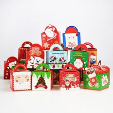 10 Pcs/set Christmas Gift Box Beautifully Folded Colorful Apple Stocking Ornaments