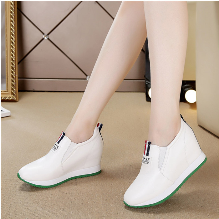 high quality Leather small white shoes women running shoes 2017 new fall walking jogging shoes zapatos mujer chaussure femme