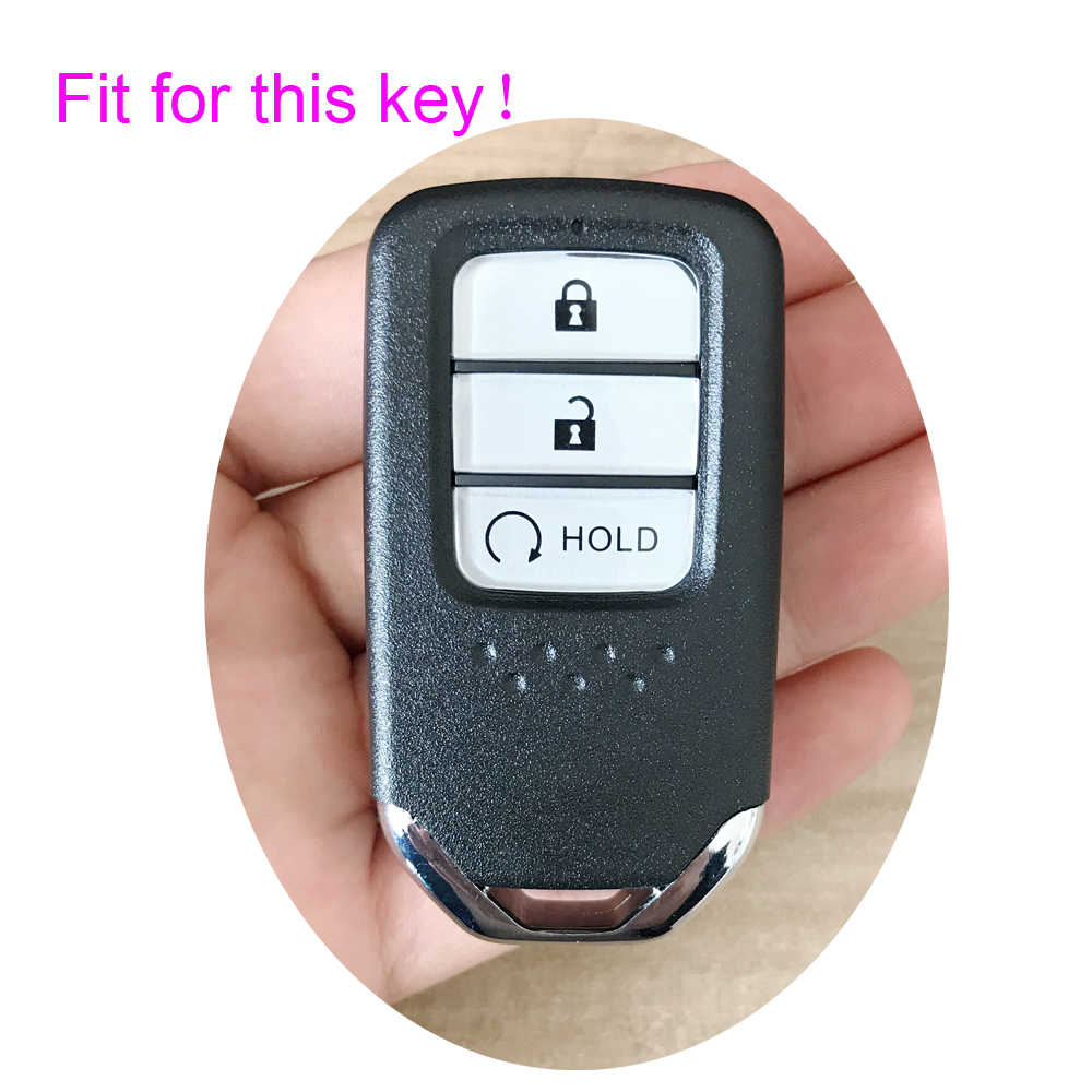 Xinyuexin силиконовый для ключа автомобиля чехол для Honda avancier Новый URV CRV 2017 умный дистанционный ключ куртка автомобиля-stying без логотипа