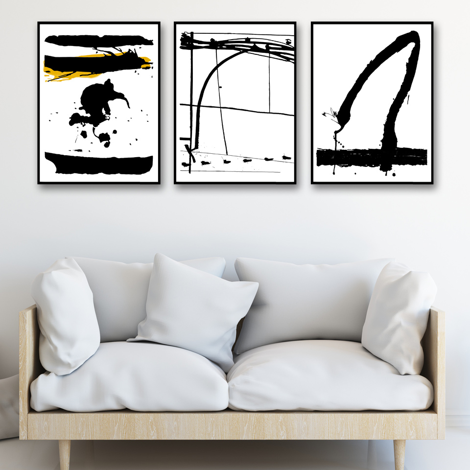 high quality modern collage framesbuy cheap modern collage frames  - artwork abstract ink black and white art canvas poster print collagepainting minimalist modern home decor