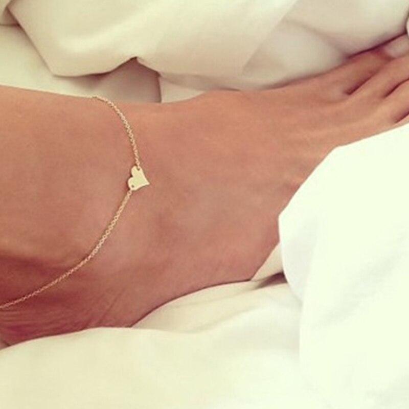New Fashion Gold Heart Female Foot Jewelry For Women Leg Chain JK073