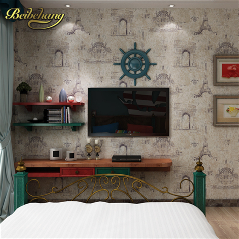 beibehang mural wall paper for living room backdrop Tower British style retro nostalgia architecture bedroom Non-woven wallpaper custom 3d mural wallpaper european style painting stereoscopic relief jade living room tv backdrop bedroom photo wall paper 3d