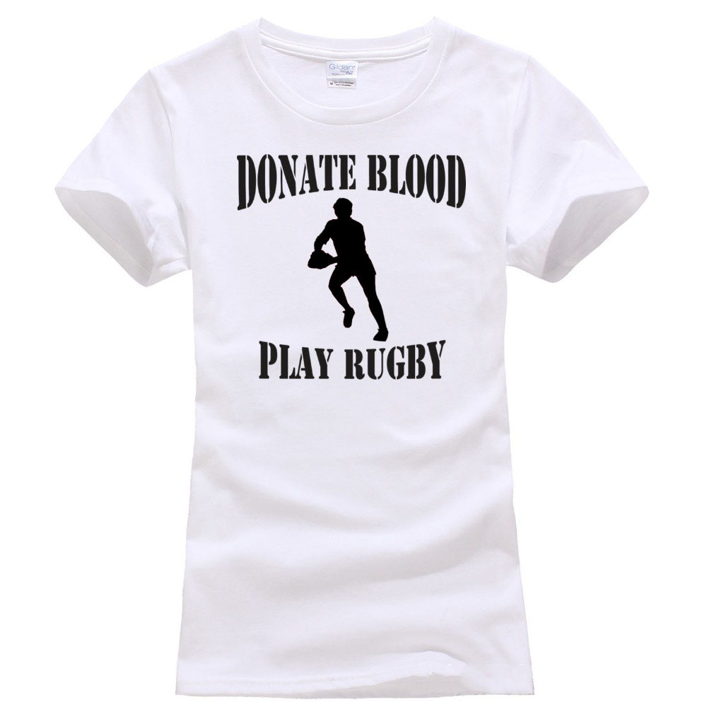 Design t shirt rugby - Only4u Online T Shirt Design Broadcloth Donate Blood Play Rugbying Womens Shirts