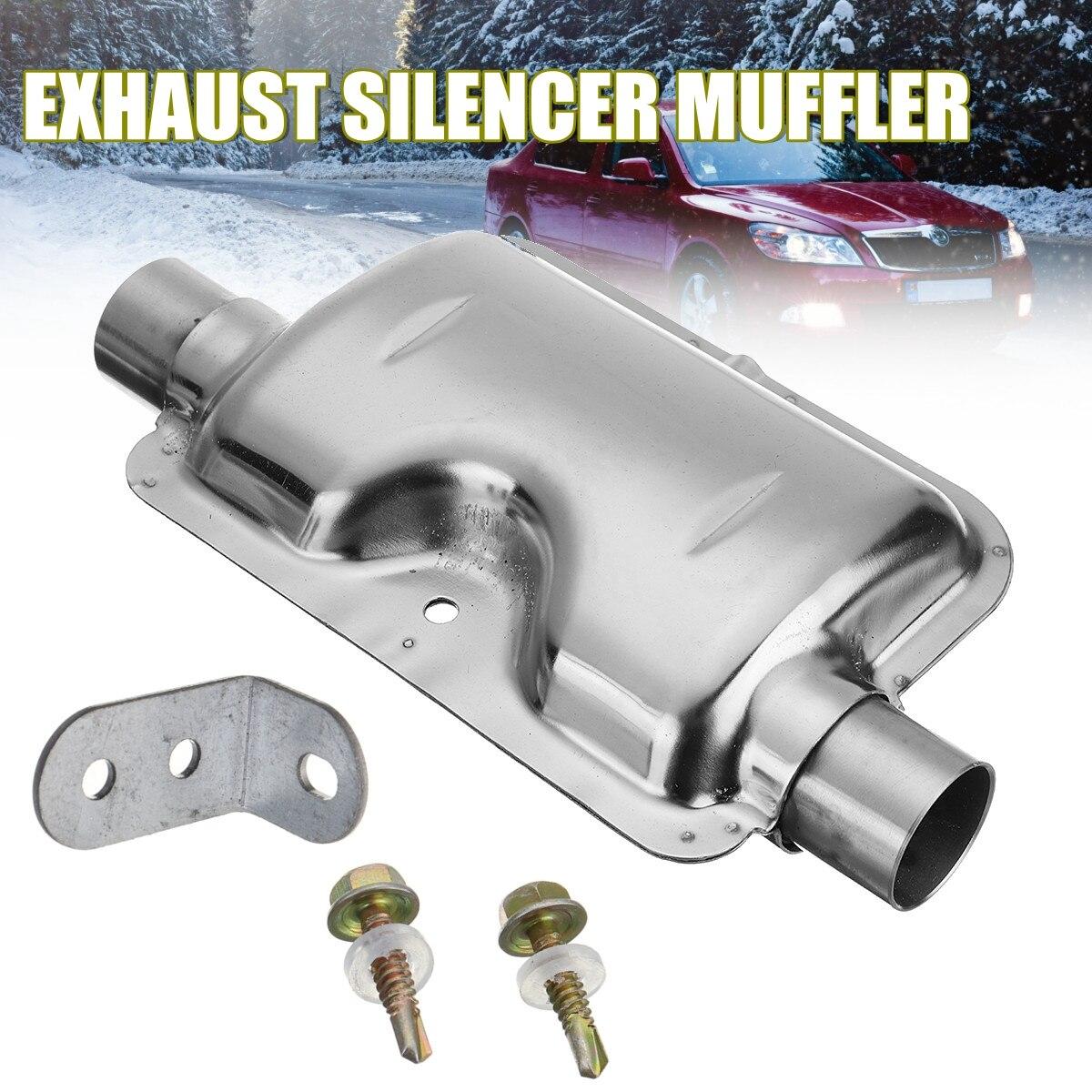 24mm/ 0.9inch Portable Silver Car Exhaust Silencer Muffler for Webasto Eberspacher Heater high quality intake silencer and exhaust muffler for air parking heater
