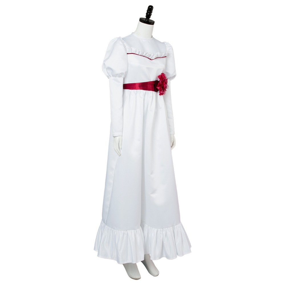 Trucco Annabelle Halloween.Us 58 65 15 Off 2018 Movie Annabelle Cosplay Costume Annabelle Dress Costumes For Halloween Canrival In Anime Costumes From Novelty Special Use On