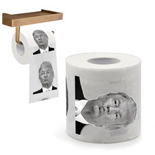 Hot Sale Creative Donald Trump Humour Toilet Paper Novelty Freshness Gag Gift Prank Joke Tissue Paper For Home Bathroom(China)