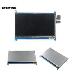7 polegadas para o tela táctil capacitivo do pi da framboesa 1024*600 7 polegadas lcd da tela de toque, interfac de hdmi suporta vários sistemas